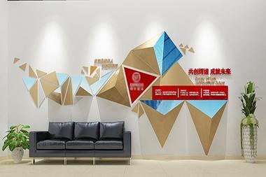 莱山区企业文化展示墙设计