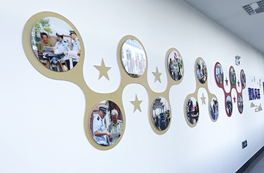 龙口文化展示墙--交警队党建文化